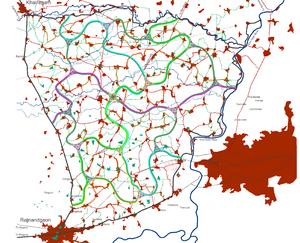 Unified settlement planning - The Regional Module of Rajnandgaon, Chhattisgarh, India