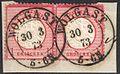 Reich 1872 Mi19 pair WOLGAST.jpg
