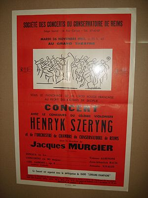 English: Charity concert by Henryk Szeryng for...
