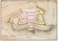 Reinaldo Oudinot, Castello de S. João da Foz do Douro com as Obras novamente acrescentadas, e as projectadas, N.os 1 e 2, 1795.png