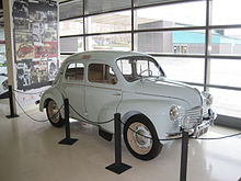 renault 4cv the first car of the renault 4cv manufactured by fasa renault at the factory of valladolid the factory was opened in 1951 this copy is located in the