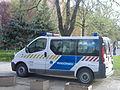 Rendőrségi csapatszállító Makón.JPG