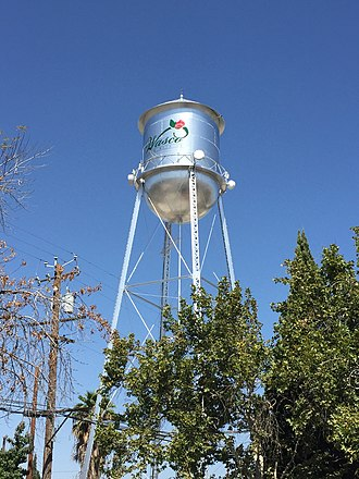 Wasco, California - Water tower in Wasco