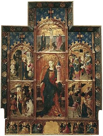 Altarpiece of Saint Barbara - Image: Retaule de Santa Bàrbara Gonçal Peris Sarrià. MNAC