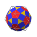 Rhombicosidodecahedron in rhombic triacontahedron.png