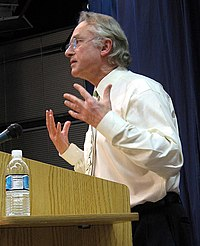 Dawkins talking at Kepler's Books, Menlo Park, California, October 29, 2006.