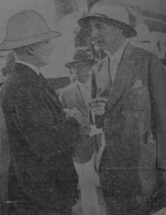 Richard Feetham - Feetham (left) talks with Ernest Macnaghten Chairman of the Shanghai Municipal Council in 1931