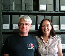 Rick and Megan Prelinger, Prelinger Library.jpg