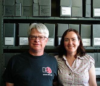Rick Prelinger - Rick and Megan Shaw Prelinger at the Prelinger Library in 2009