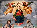Ridolfo del ghirlandaio (attr.), maria assunta tra i ss. giovanni battista e francesco, 1524 ca. 02.jpg