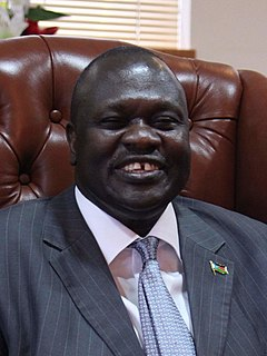 Riek Machar First vice president of the independent Republic of South Sudan