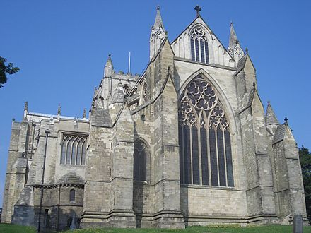 Ripon Cathedral Has A Cliff Like East End Typical Of English Gothic