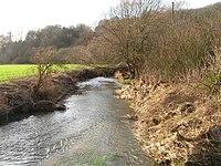 River Rib taken from footbridge beside Hanging Wood Ford - geograph.org.uk - 322346.jpg