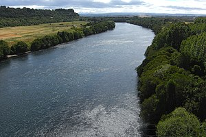 Bueno River - The river as seen from Chile Route 5.