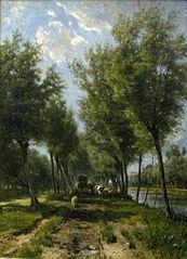 De weg van Polsbroekerdam