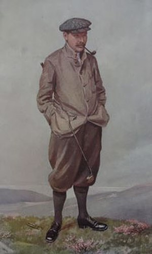 Robert Maxwell (golfer) - 1906 caricature of Maxwell by Spy (from Vanity Fair magazine)