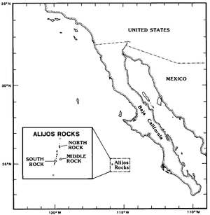 Rocas Alijos - overview map with detail inset