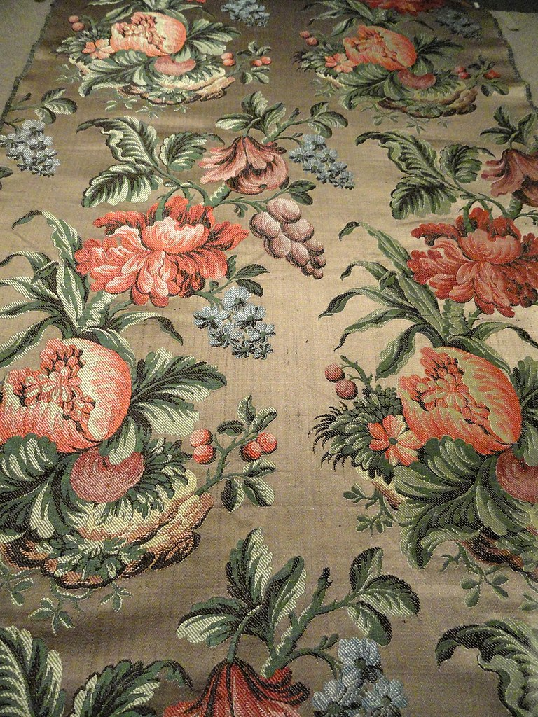 File Rococo Dress Fabric France Or Italy C 1735 Silk