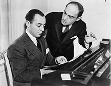 Lorenz Hart (right) with Richard Rodgers in 1936