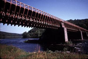 Lackawaxen Township, Pike County, Pennsylvania - Roebling's Delaware Aqueduct, spanning the Delaware River