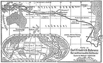 Jacob Roggeveen - Roggeveen's itinerary