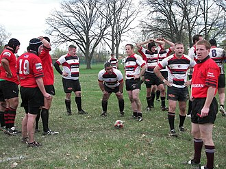 Flint Rogues Rugby Club - Image: Rogues v. Tri City scrum