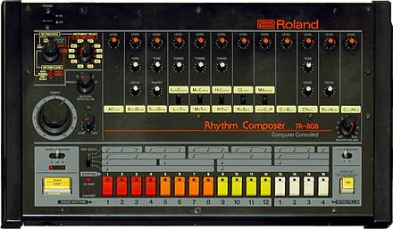 The Roland TR-808, the titular drum machine which served as a primary instrument on 808s and Heartbreak. Roland TR-808 (large).jpg