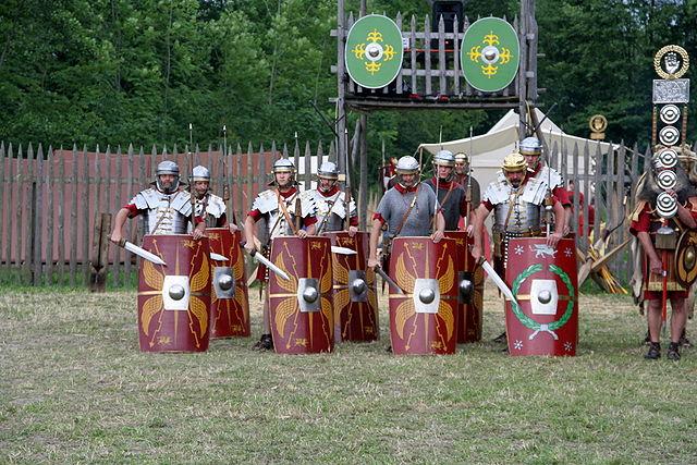 Römische Legionäre (nachgestellt)