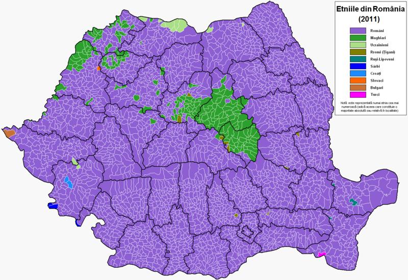 Fișier:Romania harta etnica 2011.PNG