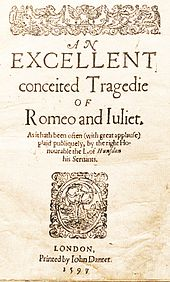 the tragicall historye of romeus and juliet