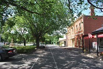 Romsey, Victoria - A service lane parallel to Main Street in Romsey
