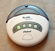 Robotic vacuum cleaners operate autonomously.Photo of iRobot Roomba Discovery model.