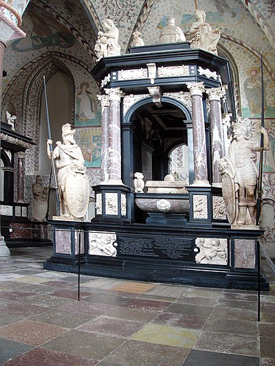 Sepulchral monument of Frederick II by Gert van Egen in the Chapel of the Magi - Roskilde Cathedral