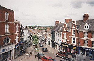 """Town centre,<br class=""""prcLst"""" />looking north from Market House"""