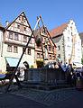 Rothenburg Herrnbrunnen Schandkorb1.JPG