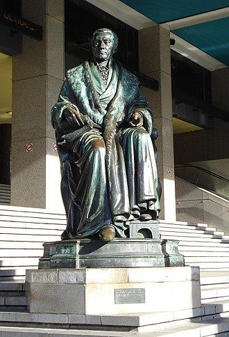 Joseph Geefs - Statue of Van Hogendorp by Josef Geefs (1867)