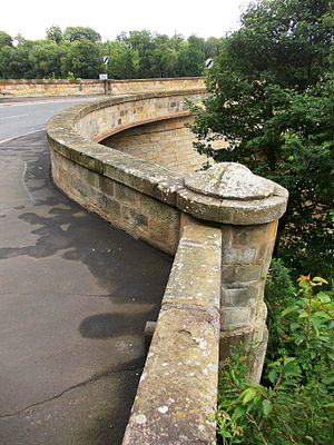 Coldstream Bridge - Image: Round buttress of Coldstream Bridge