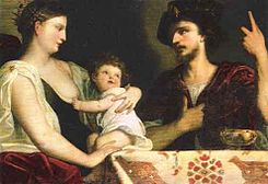 Roxana with Alexander IV Aegus the son of Alexander the Great.jpg