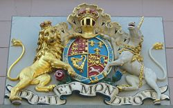 Royal arms (Hanoverian) on States Building in St Helier, Jersey.jpg