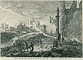 Ruïnes in een straat naar de Grote Markt bij het Manneken Pis te Brussel, 1695, Augustin Coppens, 1695.jpg