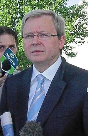 Kevin Rudd on Novembre 2005.