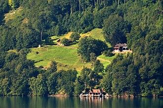 Rütli - The Rütli as seen from across Lake Uri