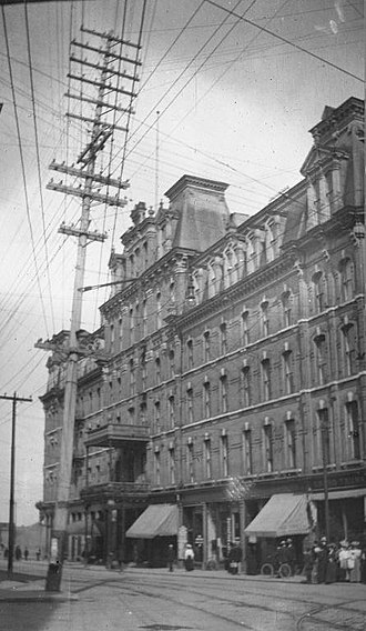 1891–92 Ottawa Hockey Club season - Ottawa's Russell House Hotel in 1907.