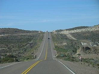 National Route 3 (Argentina) - Stretch of National Route 3 through Cañadón León, Santa Cruz Province.