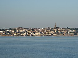 Ryde viewed from the Solent