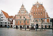 """Town Hall Square and """"Guild of Blackheads"""" House, Riga"""