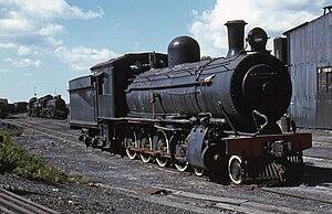 South African Class 8A 4-8-0 - CSAR Class 8-L1 no. 415, SAR Class 8A no. 1106, Breyten, Transvaal, 4 April 1981
