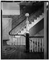 SECOND FLOOR, MAIN STAIRWAY - Armour-Stiner House, 45 West Clinton Avenue, Irvington, Westchester County, NY HABS NY,60-IRV,3-27.tif