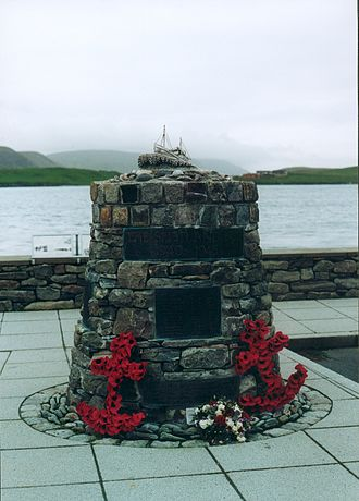 Shetland bus - A memorial in Scalloway commemorating the Shetland Bus operation during the Second World War