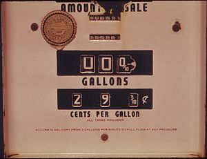 SIGN OF THE PAST IS THIS ABANDONED GASOLINE PU...